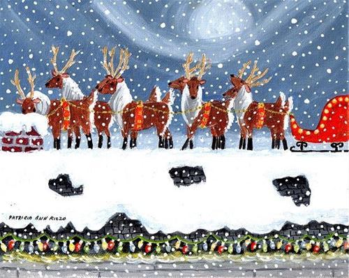 """""""Where's Santa?"""" original fine art by Patricia Ann Rizzo"""