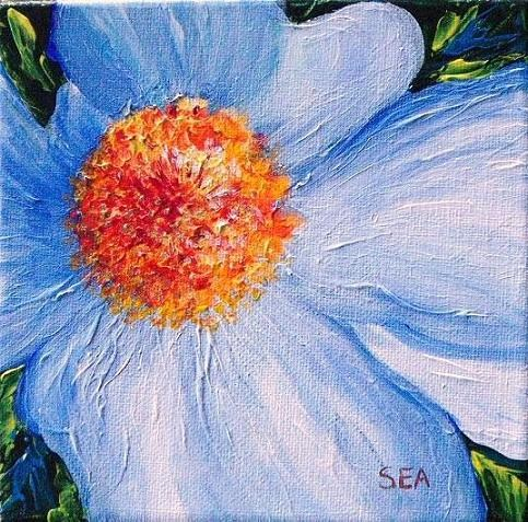 """2006 - Never Blue - Miniature Masterpiece Series"" original fine art by Sea Dean"