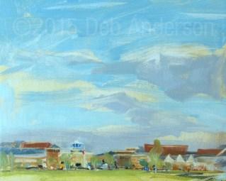 """Plein air oil painting: Memorial Morning"" original fine art by Deb Anderson"