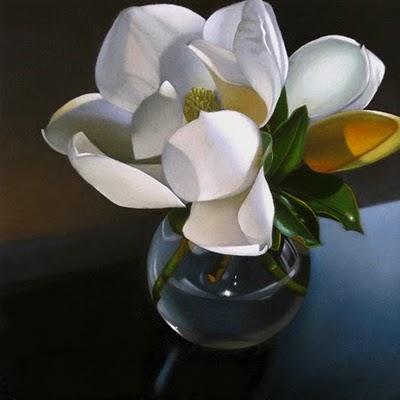 """Magnolia 6x 6"" original fine art by M Collier"