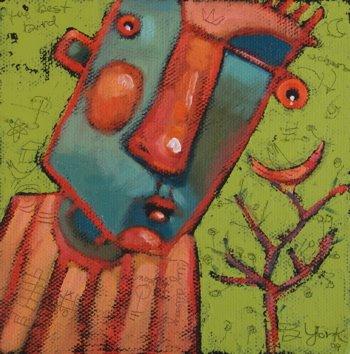 """Bird In The Bush"" original fine art by Brenda York"