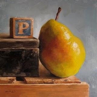 """P is for Pear"" original fine art by Michael Naples"