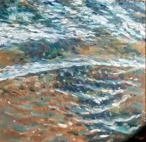 """Wave in the SF Bay"" original fine art by Selby Minner"