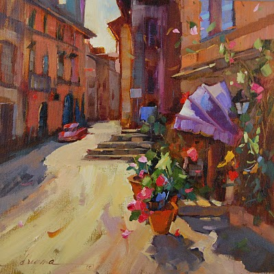"""""""A Sunny Morn in Tuscany SOLD"""" original fine art by Dreama Tolle Perry"""