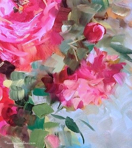 """""""Reading to My Mother the Poet - By Nancy Medina Art"""" original fine art by Nancy Medina"""
