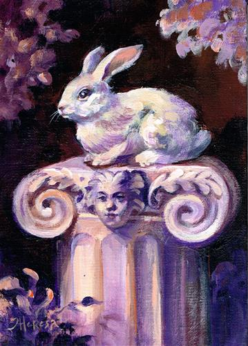 """Rabbit, Revered"" original fine art by Theresa Taylor Bayer"