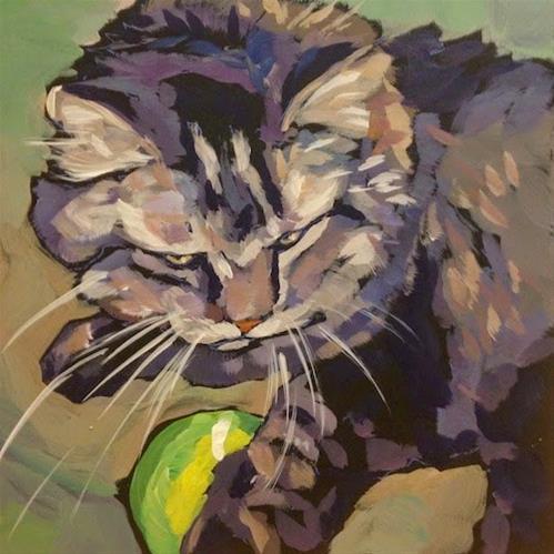 """""""March 26, Riley!"""" original fine art by Kat Corrigan"""