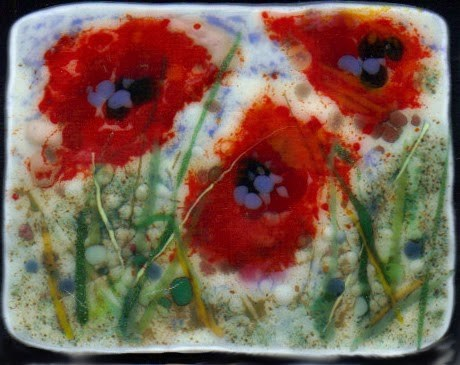 """Playing with Poppies and Cherry Blossoms"" original fine art by Kristen Dukat"