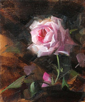 """Rose Solo --- Sold"" original fine art by Qiang Huang"