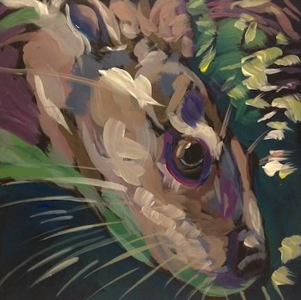 """Head First"" original fine art by Kat Corrigan"