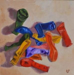 """Birthday Balloons"" original fine art by Robert Frankis"