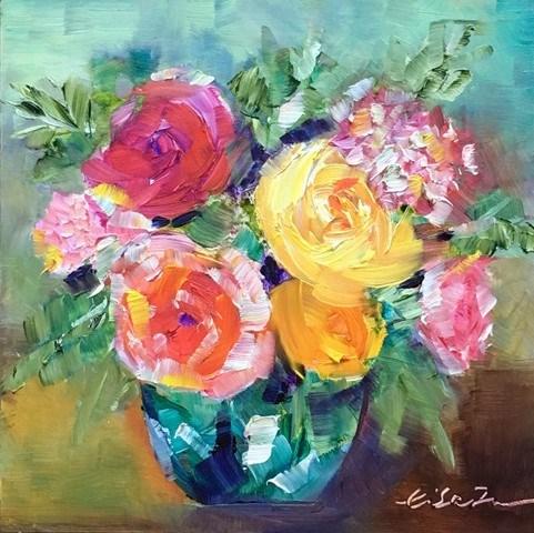 """""""Winter Blooming"""" original fine art by Lisa Fu"""