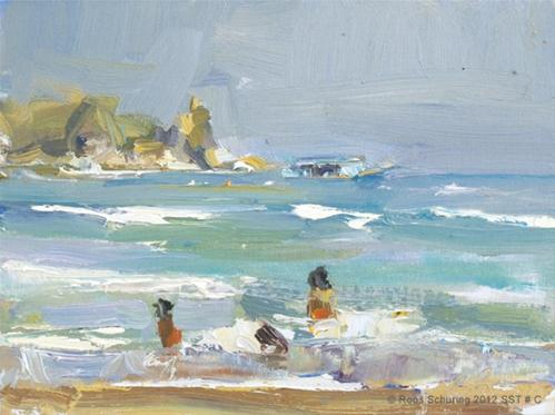 """Seascape summer Thailand # C Bright and sunny"" original fine art by Roos Schuring"