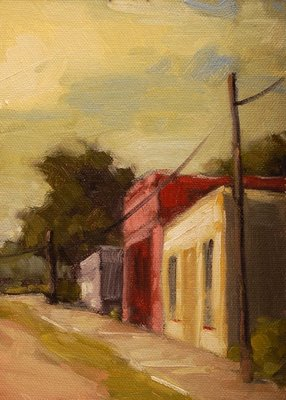 """Old Main Street"" original fine art by Laurel Daniel"