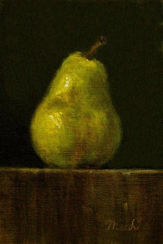 """Bartlett Pear"" original fine art by MeeLi Lee"