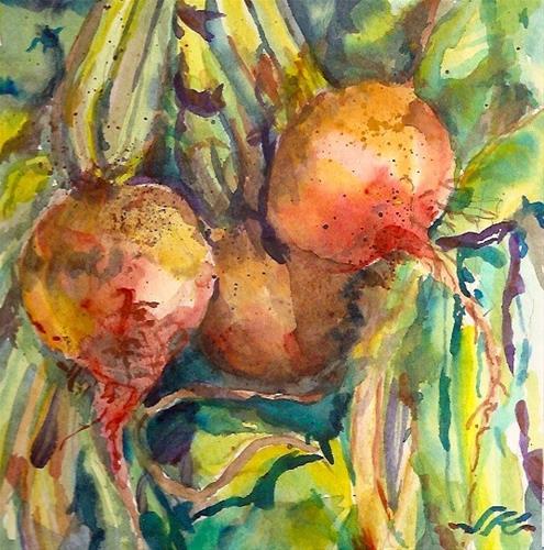 """Golden Beets"" original fine art by Jean Krueger"