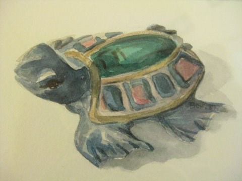 """Sea Turtle"" original fine art by Priscilla Bohlen"