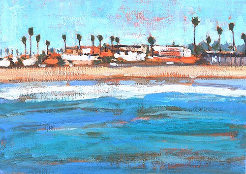 """Ocean Beach from the Pier"" original fine art by Kevin Inman"