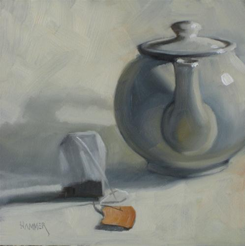 """""""Ready for hot water 6x6 oil"""" original fine art by Claudia Hammer"""