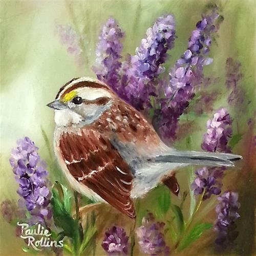 """""""The Smell of Lavender"""" original fine art by Paulie Rollins"""