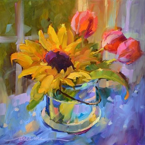 """""""A Colorful Kind of Joy"""" original fine art by Dreama Tolle Perry"""