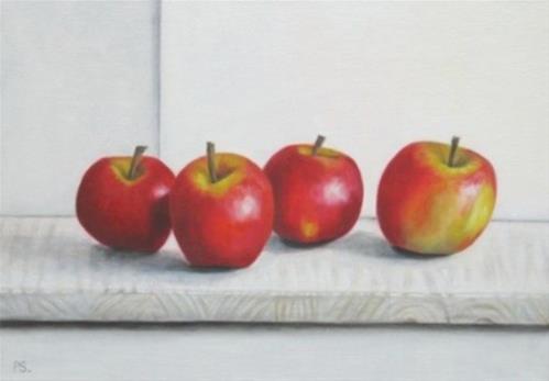 """Four Pink Ladies"" original fine art by Pera Schillings"