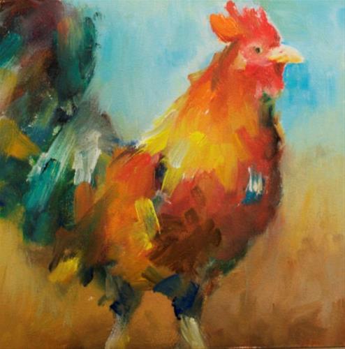 """Spring Fancy"" original fine art by Sue Churchgrant"