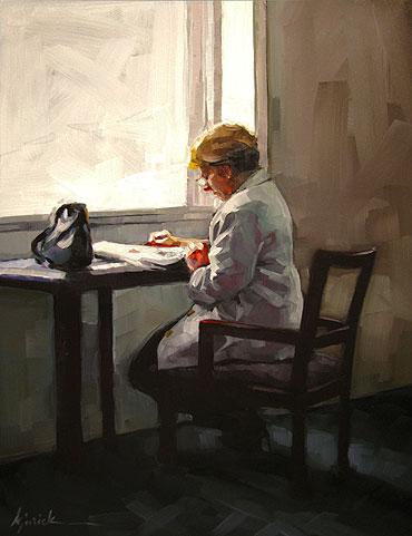 """Peaceful Read"" original fine art by Karin Jurick"