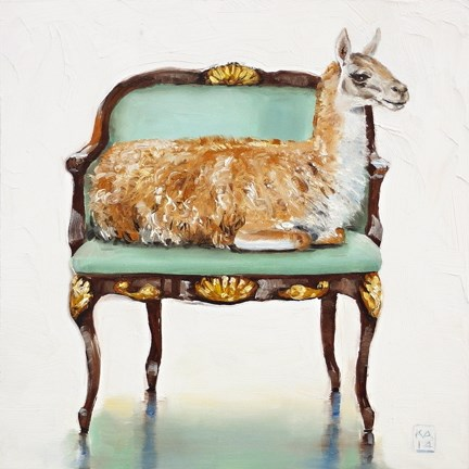 """llama drama"" original fine art by Kimberly Applegate"