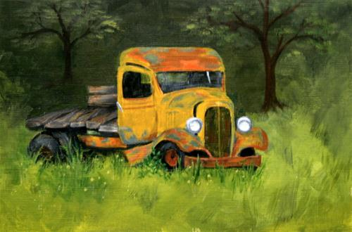 """'33 Chevy Flatbed"" original fine art by Jean Nelson"