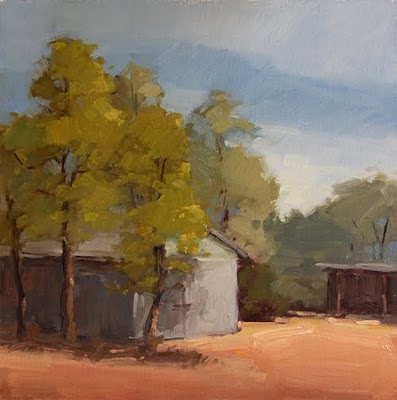 """Tin Shed"" original fine art by Laurel Daniel"