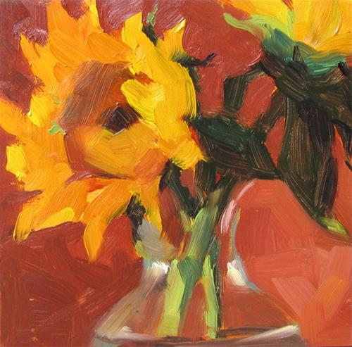 """Sunflower"" original fine art by Katia Kyte"