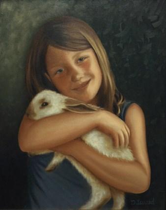 """""""Katie #606"""" original fine art by Dee Lessard"""