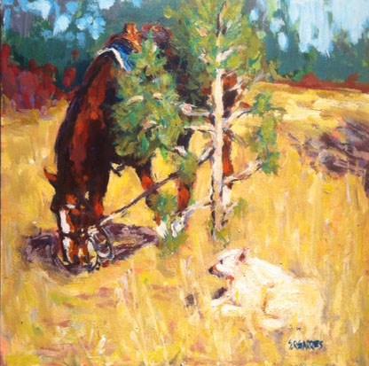 """""""friends"""" original fine art by Shelley Garries"""
