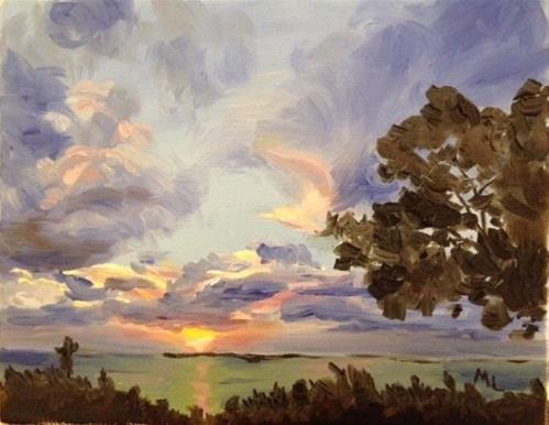 """Key Largo Sunset"" original fine art by Marjie Laizure"