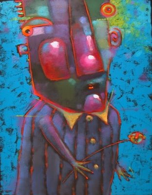 """Harley Likes Head Games"" original fine art by Brenda York"