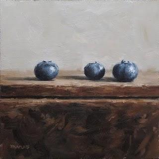 """Blueberry Row"" original fine art by Michael Naples"