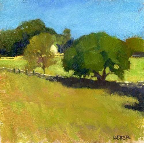 """""""Allen's Pond"""" original fine art by Kathy Weber"""