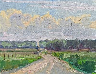 """""""River Road__Great Plains, Nebraska, farmland"""" original fine art by V.... Vaughan"""