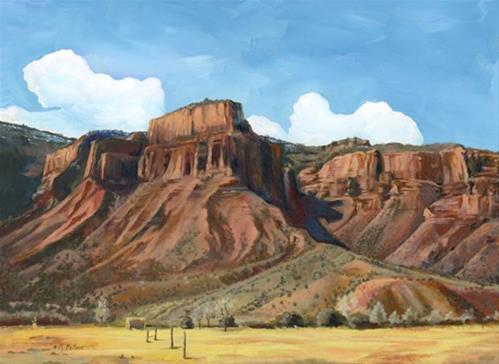 """Original Colorado Landscape Painting OCTOBER AFTERNOON ON THE REDLANDS by ColoradoArtist Nancee Je"" original fine art by Nancee Busse"