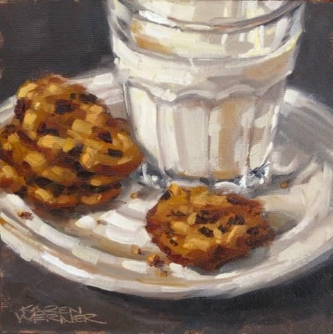 """Morsels & Milk"" original fine art by Karen Werner"