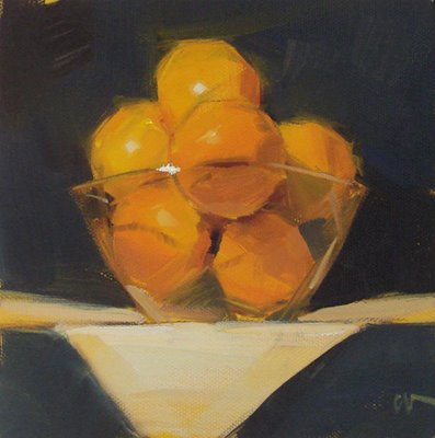 """Grapefruit"" original fine art by Carol Marine"