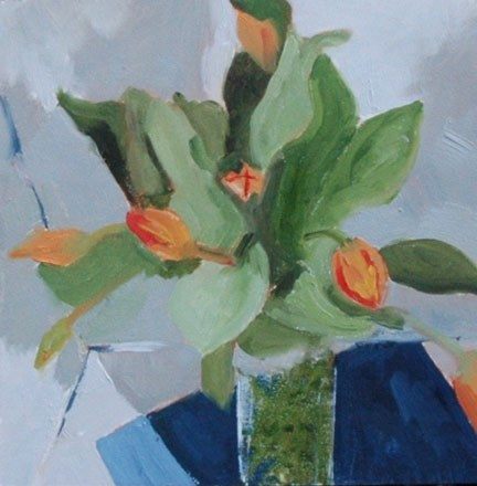 """TULIPS"" original fine art by Linda Popple"