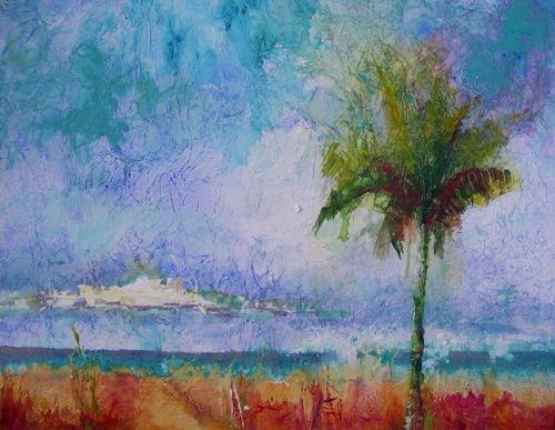 """Florida Beach Scene Seascape Paintings by Arizona Artist Amy Whitehouse"" original fine art by Amy Whitehouse"
