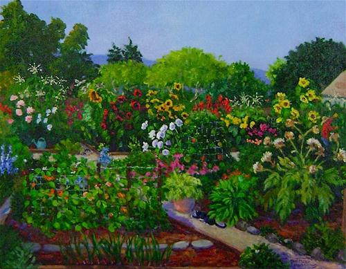 """Willowgate Community Garden"" original fine art by Patricia Musgrave"