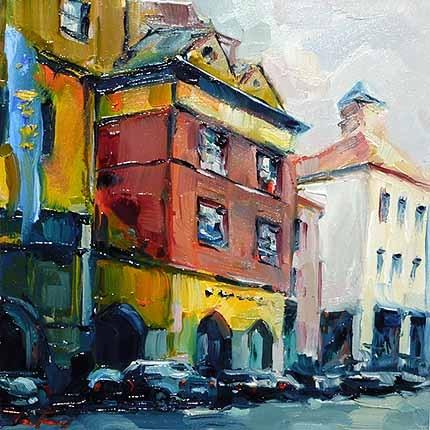 """""""Markthalle Stuttgar"""" original fine art by Jurij Frey"""