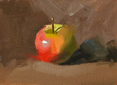 """Apple Demo --- Sold"" original fine art by Qiang Huang"
