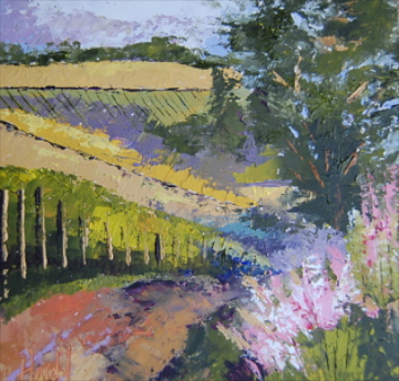 """White Rose Estate Winery"" original fine art by Deborah Harold"