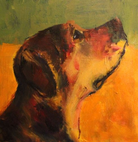"""""""Treat Time, Contemporary Dog Portrait Paintings by Arizona Artist Amy Whitehouse"""" original fine art by Amy Whitehouse"""