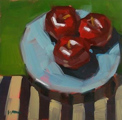 """Plum Stripes --- SOLD"" original fine art by Carol Marine"